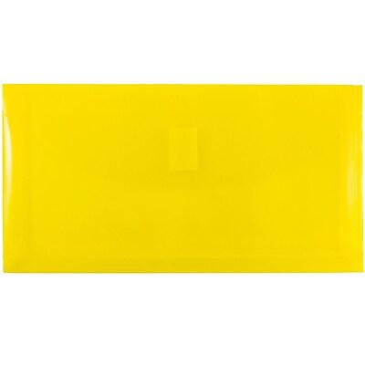 JAM Paper® Plastic Envelopes with Hook & Loop Closure, 1