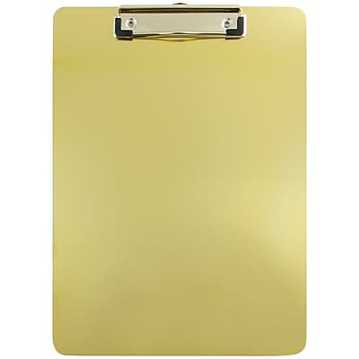 JAM Paper® Aluminum Clipboard, 9 x 13, Gold, Sold Individually (331ALCgo)