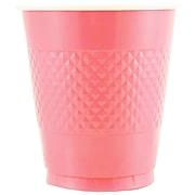 JAM Paper® Bulk Plastic Party Cups, 12 oz, Baby Pink, 200 Glasses/Box (2255520705b)