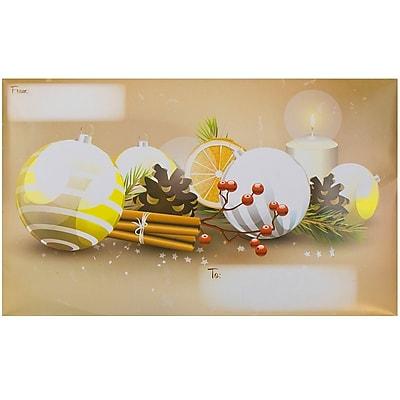 JAM Paper® Bubble Mailers, Large, 10.5 x 16, Cinnamon Christmas, 6/pack (526SSDE568L)