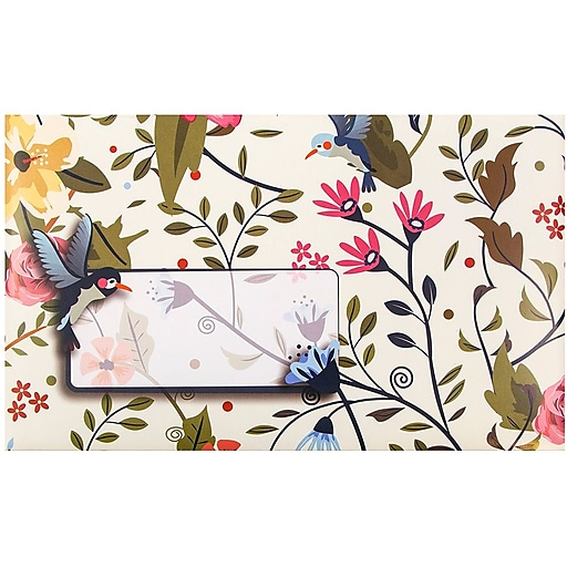 JAM Paper® Decorative Bubble Padded Mailers, Small, 6 x 10, Hummingbird Design, 6/Pack (526SSDE379S)