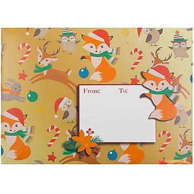 JAM Paper® Bubble Mailers, Large, 10.5 x 16, Foxy Chrsitmas, 6/pack (526SSDE546L)