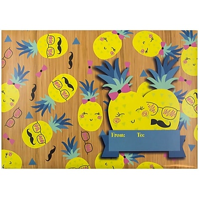 JAM Paper® Bubble Mailers, Large, 10.5 x 16, Pineapple Love Design, 6/pack (526SSDE358L)