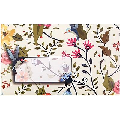 JAM Paper® Bubble Mailers, Medium, 8.5 x 12.25, Hummingbird Design, 6/pack (526SSDE379M)