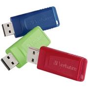 Verbatim Store 'n' Go 4GB USB 2.0 Flash Drives, 3/Pack (97002)
