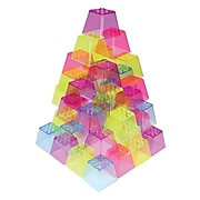Roylco Crystal Color Stacking Blocks, Set of 50 (R-60310)
