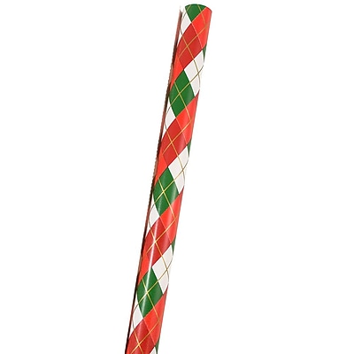 JAM Paper Christmas Wrapping Paper, 25 Sq