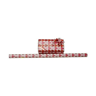 JAM Paper® Wrapping Paper, Red & Pink Hearts, Sold Individually (77813029)