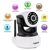 Turcom IP Wireless Security Camera with Mobile App, Night Vision and Two-Way Audio (TS-620)
