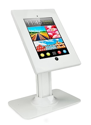Mount-It! Tablet Counter Stand Kiosk with Locking Case for iPad 2, 3, iPad Air, iPad Air 2, and 7