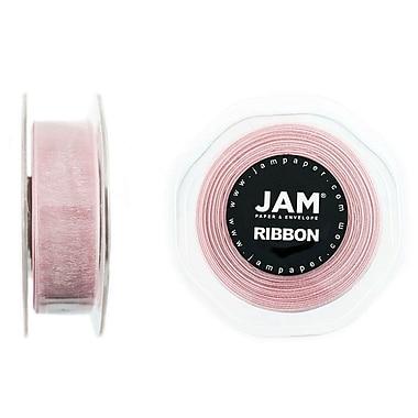 JAM Paper® Sheer Organza Ribbon, 7/8 Inch Wide x 25 Yards, Pink, Sold Individually (807SHltpi25)