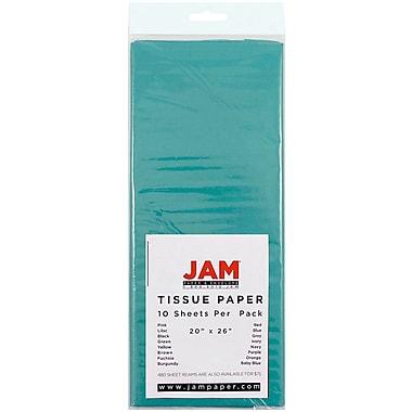 JAM Paper® Tissue Paper, Aqua Blue, 10/pack (1157011)