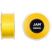 JAM Paper® Double Faced Satin Ribbon, 1.5 inch Wide x 25 yards, Yellow, Sold Individually (808SAye25)
