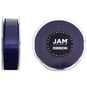 JAM Paper® Double Faced Satin Ribbon, 7/8 inch Wide x 25 yards, Navy Blue, Sold Individually (807SAnav25)