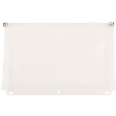 JAM Paper® Plastic 3 Hole Punch Binder Envelopes with Zip Closure, #10 Size, 6 x 9.5, Clear, 108/pack (235731329c)