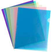 JAM Paper® Plastic Sleeves, 9 x 11.5, Assorted Colors, 12/pack (380Sasst)