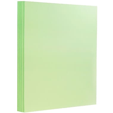 JAM Paper® Matte Paper, 8.5 x 11, 28lb Mint Green, 500/ream (16732385b)