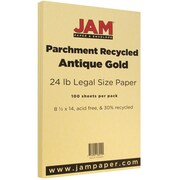 JAM Paper® Parchment Legal Paper, 8.5 x 14, 24lb Antique Gold, 100/pack (17132140)