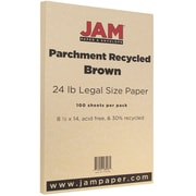 JAM Paper® Parchment Legal Paper, 8.5 x 14, 24lb Brown, 100/pack (17132136)