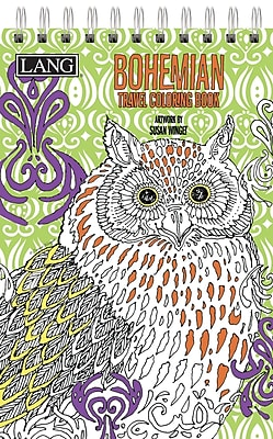 LANG Bohemian Travel Coloring Book (1024101)