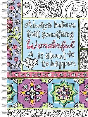 LANG Believe In Wonderful Journal - Spiral Coloring (1350500)