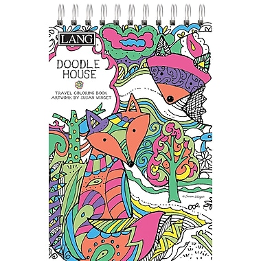 LANG Doodle House Travel Coloring Book (1024103)