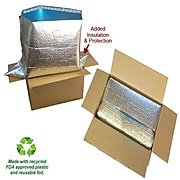 """Cool Blue Insulated Box Liners, 12"""" x 12"""" x 12"""", 60/Case (121212IBL)"""