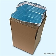 """Cool Blue Insulated Box Liners, 10"""" x 10"""" x 10"""", 70/Case (101010IBL)"""