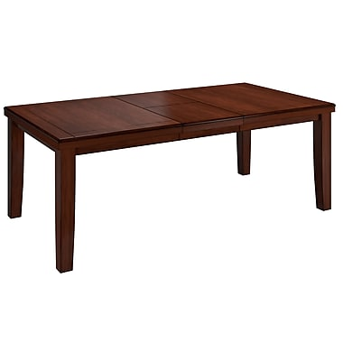 CorLiving Warm Brown Dining Table with Hidden Extendable Leaf (DWG-680-T)