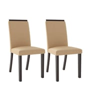 CorLiving Bistro Fabric Dining Chairs, Desert Sand - Set of 2 (DPP-111-C)