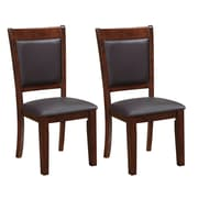 CorLiving Bonded Leather Dining Chairs, Chocolate Brown - Set of 2 (DWG-384-C)