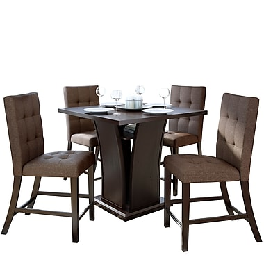 CorLiving Bistro 5pc Counter Height Dining Set in Chestnut Bark (DWP-390-Z7)