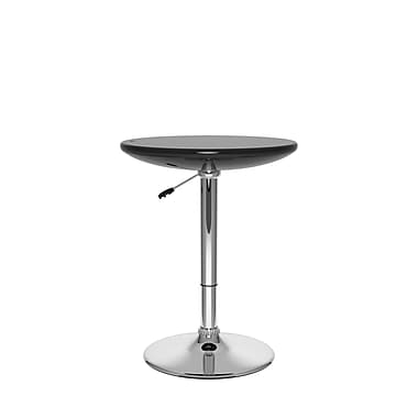 CorLiving Adjustable Height Round Bar Table in Glossy Black (DAW-700-T)