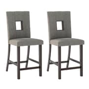 "CorLiving Bistro 25"" Counter Height Dining Chairs, Grey Sand Fabric - Set of 2 (DIP-420-C)"