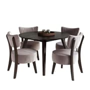 CorLiving Atwood 5pc Dining Set, with Soft Grey Velvet Chairs (DRG-897-Z1)
