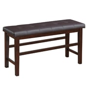CorLiving Bonded Leather Counter Height Dining Bench, Brown (DWG-880-S)
