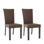 CorLiving Bistro Fabric Dining Chairs, Chestnut Bark - Set of 2 (DRC-895-C)