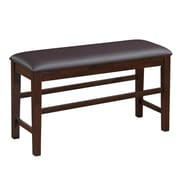 CorLiving Bonded Leather Counter Height Dining Bench, Brown (DWG-280-S)