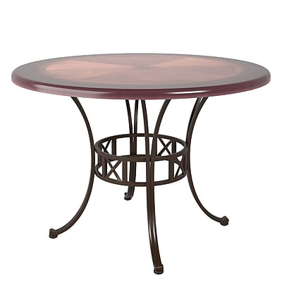CorLiving Jericho Metal and Warm Stained Wood Dining Table (DJS-479-T)