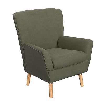 CorLiving Demi Fabric Club Chair, Greenish-Grey (LZY-736-C)