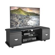 "CorLiving Panorama TV Stand for up to 57"" TVs, Black FInish (TMM-102-B)"