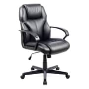 CorLiving WHL-203-C Workspace Leatherette Managerial Office Chair, Black