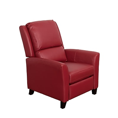 CorLiving Kate Bonded Leather Recliner, Red (LZY-553-R)