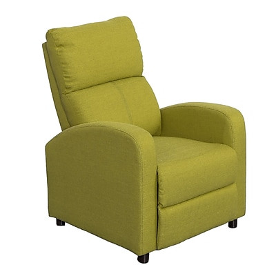 CorLiving Moor Green Linen Fabric Recliner, Green (LZY-548-R)