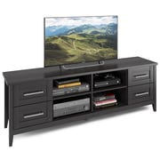 "CorLiving Jackson Extra Wide TV Bench for up to 80"" TVs, Black Wood Grain Finish (TJK-602-B)"