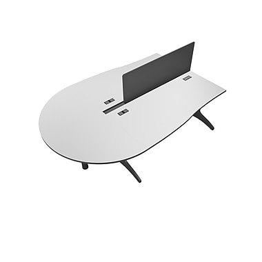 CorLiving Workspace 4pc Desk Set, Two-Tone Grey (WHP-107-Z)