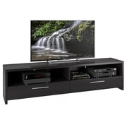 """CorLiving Fernbrook TV Stand for up to 85"""" TVs, Black Faux Wood Grain Finish (TFB-307-B)"""