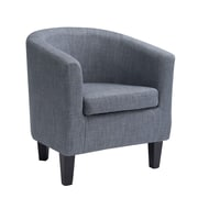 CorLiving Antonio Fabric Tub Chair, Blue Grey (LAD-778-C)
