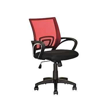CorLiving LOF-314-O Workspace Mesh Back Office Chair, Red