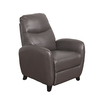 CorLiving Ava Bonded Leather Recliner, Brownish-Grey (LZY-521-R)